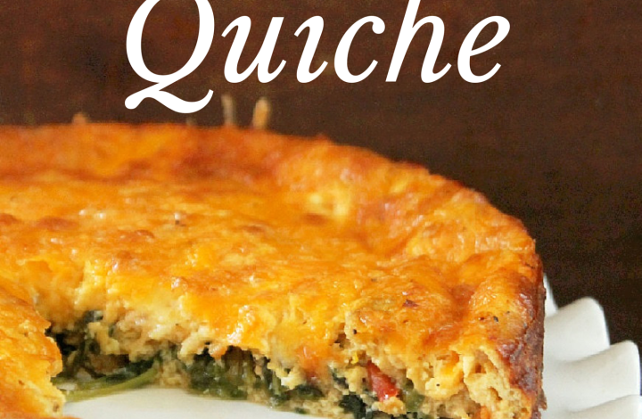 Cheesy Kale Quiche-Not Quite a Vegan