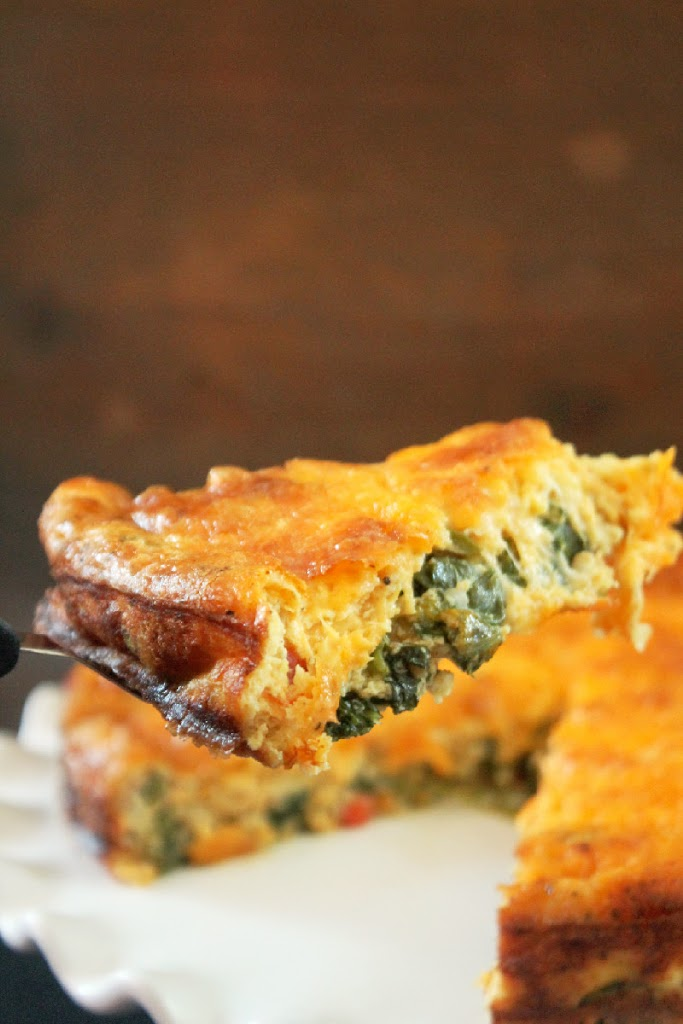 My Cheesy Kale Quiche is simple and goes together in a matter of ...